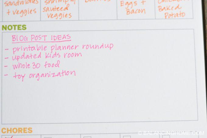 weekly planner printable 5