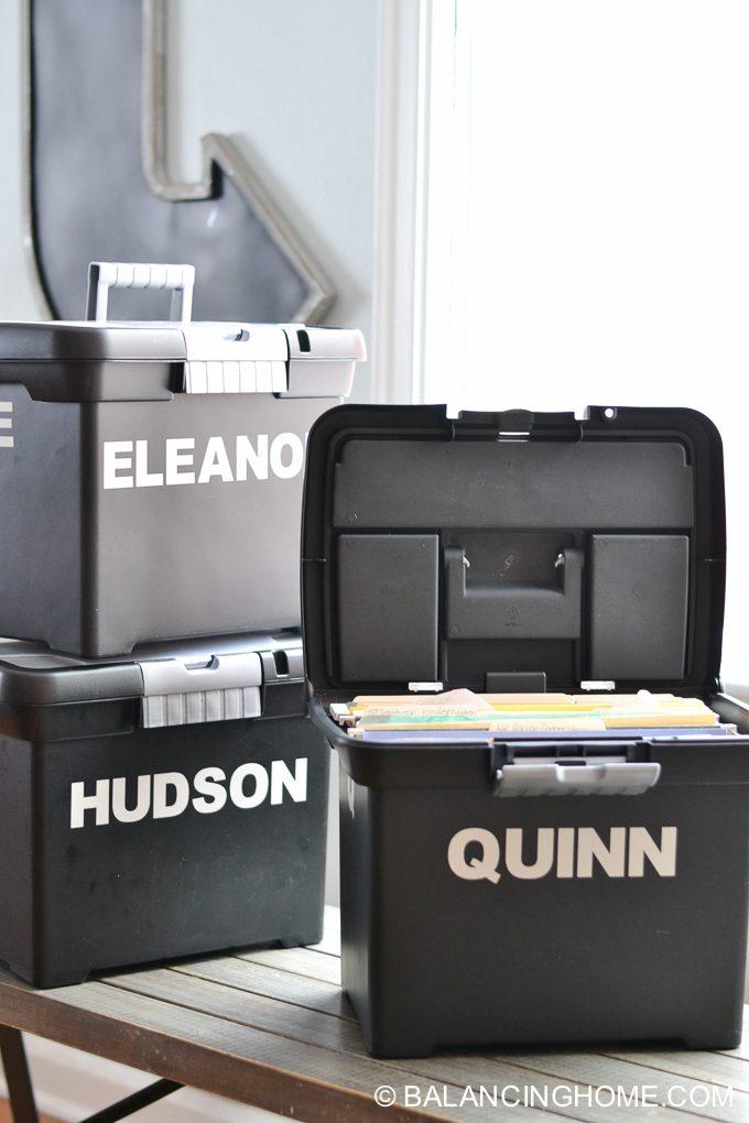 school papers artwork organization storage system