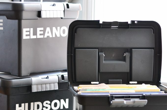 School Papers and Artwork Storage System
