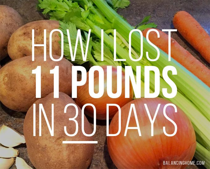 How I lost 11 lbs in 30 Days