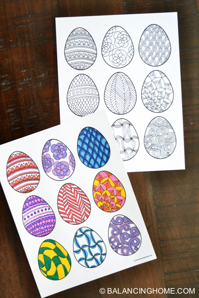 Free Easter egg coloring printable. Perfect easy kid craft. Grab this fun Easter craft!