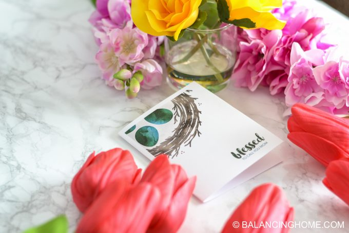 Mother's Day Gift card - Spring Blessed Nest Printable