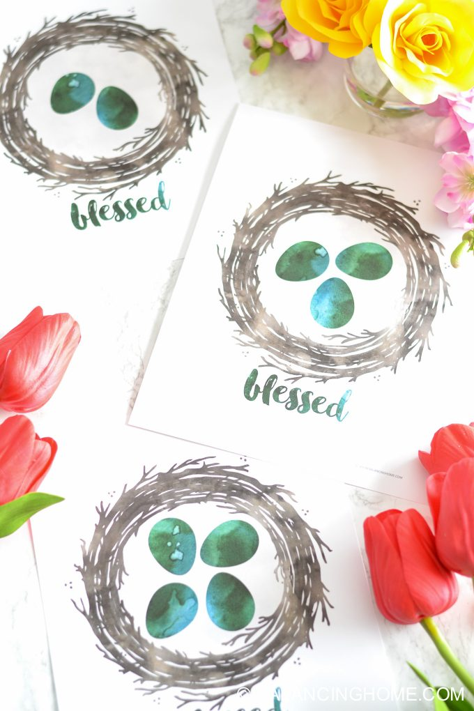 Mother's Day Gift- Spring Blessed Nest Printable