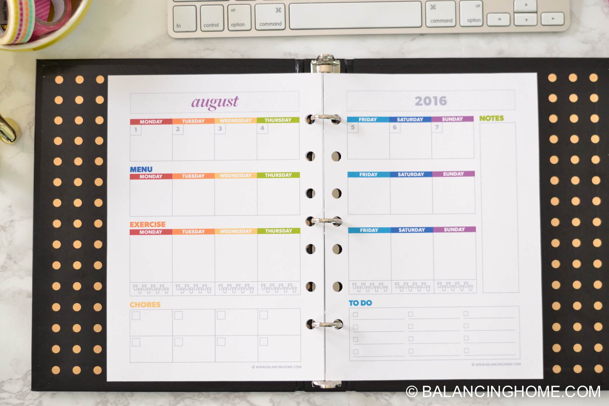 Planner A5 An Organized Life- organizing planning printable template - weekly organizer