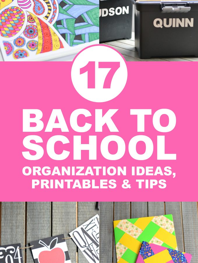 Back to School Organization, Printables & Tips