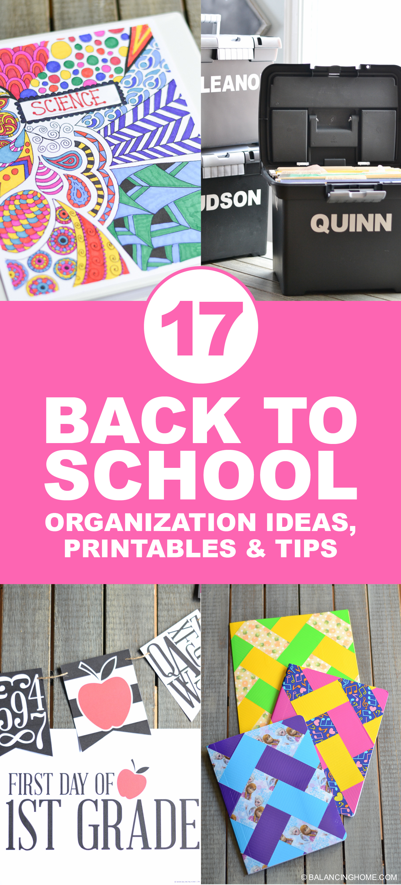 Back to school organization printables tips balancing home with megan bray - Back to school organization ...