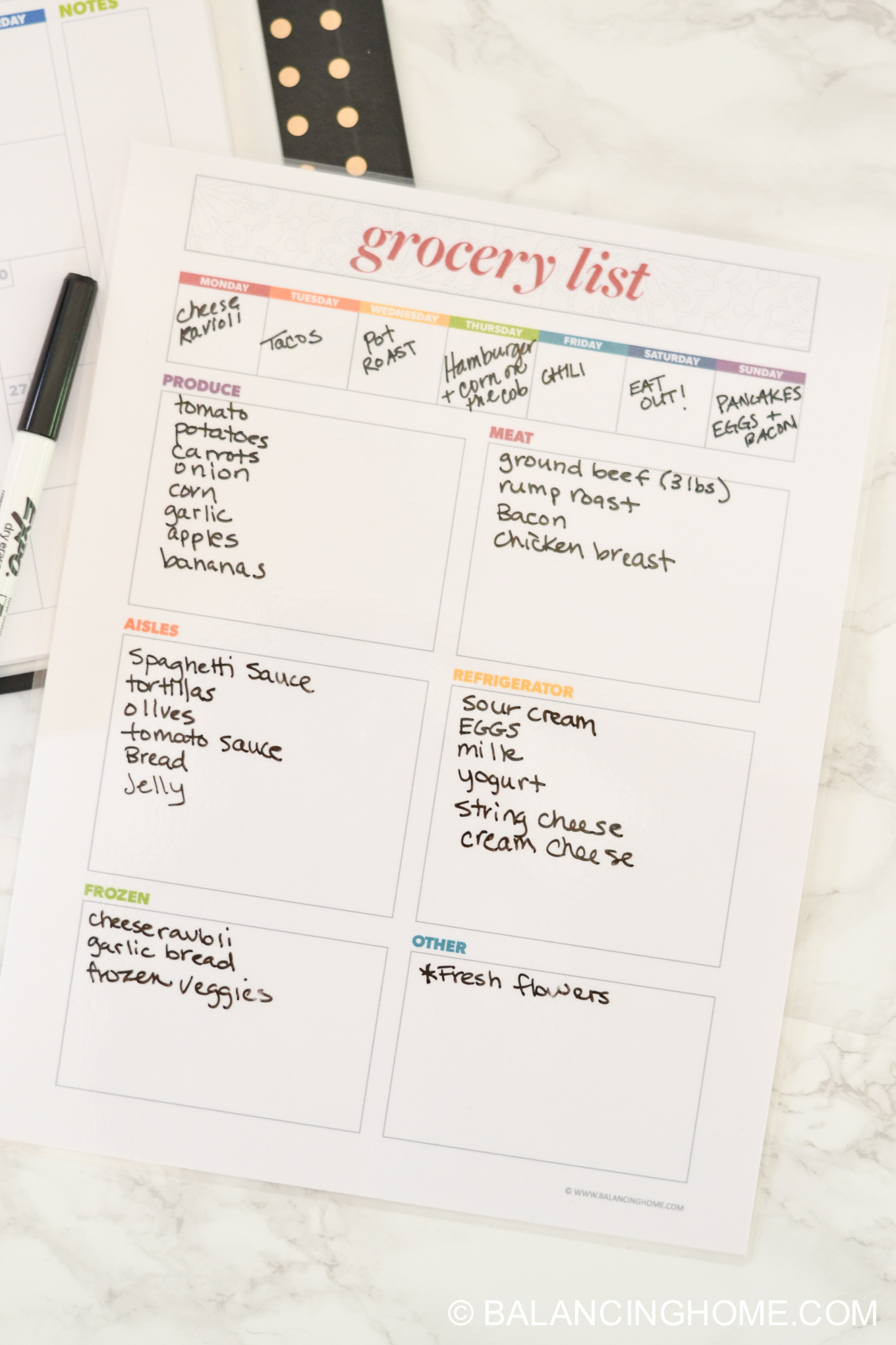 grocerty list printable-7