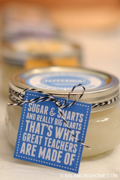 Sugar Scrub Recipes, Printable Labels & Teacher Gift Tags