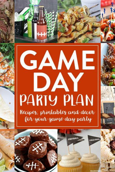 Game Day Party Planning with Recipes, Printables & Decorating Ideas