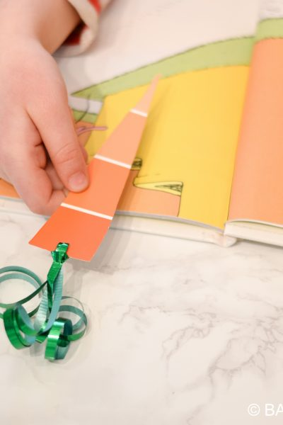 Easter Craft Carrot Bookmark