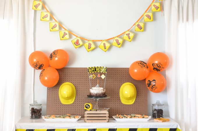 Construction Birthday Party in Simple, Doable Steps