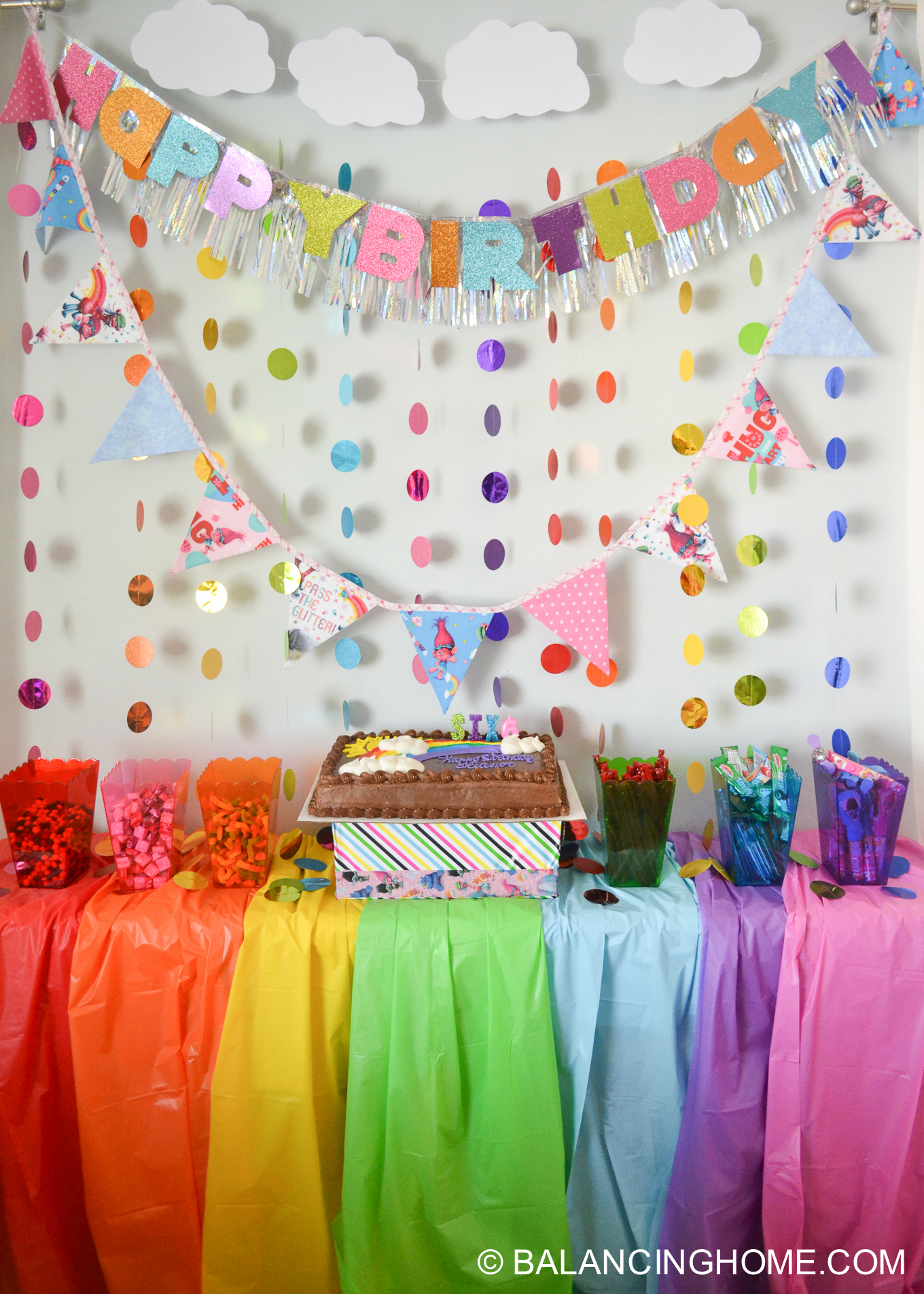 Trolls birthday party decorations