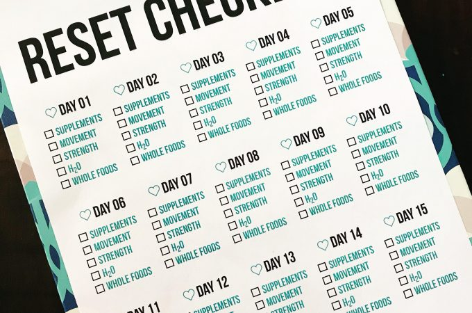Become a Happier, Healthier YOU With a 15 day RESET