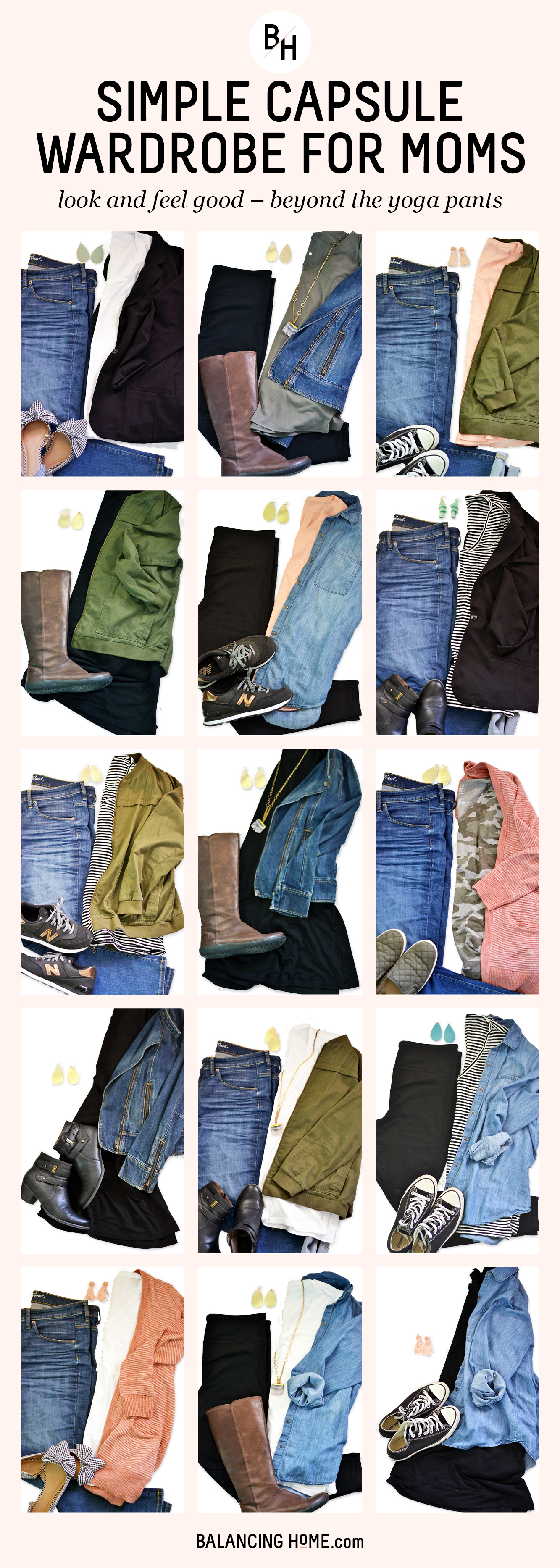 Simple Capsule wardrobe for moms. Look good and feel good with a few basics.