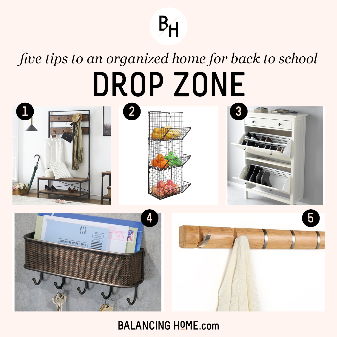 An Organized School Year: Mudroom/entryway