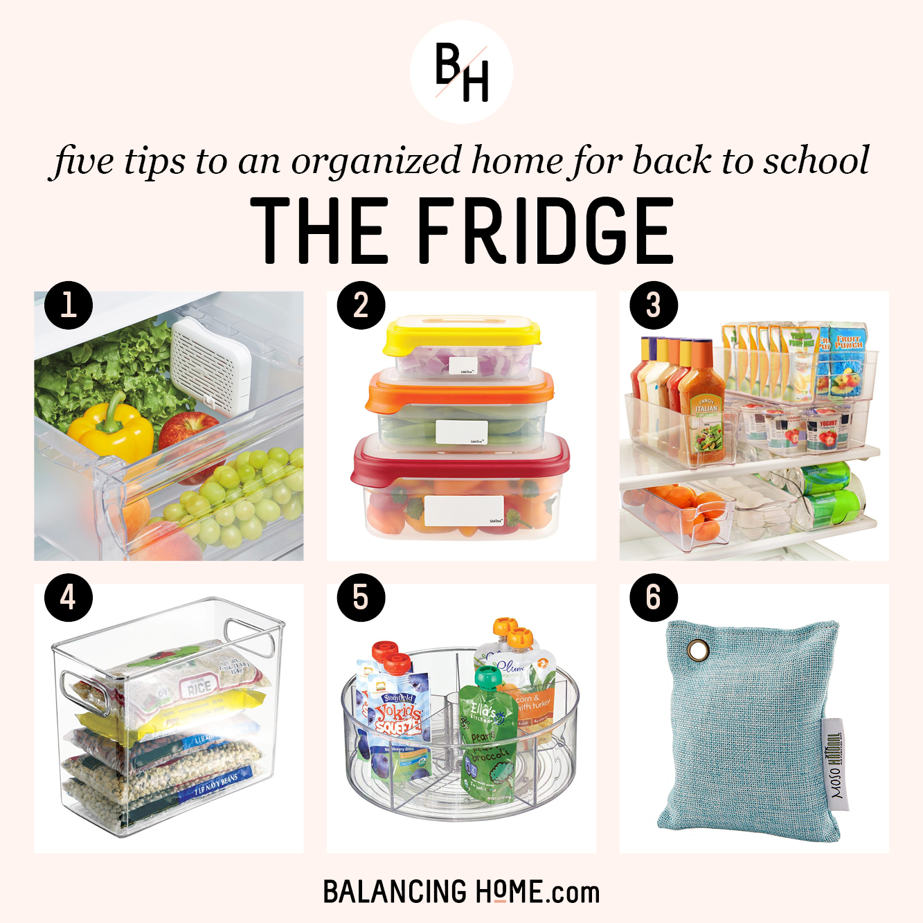 An Organized School Year: Clean out and organize the fridge
