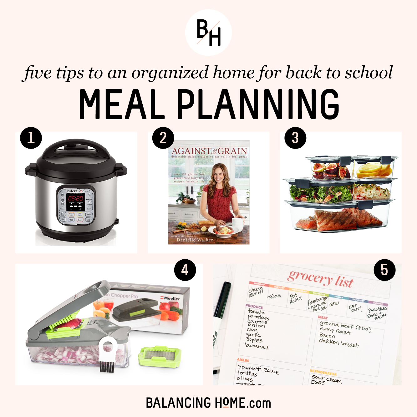 An Organized School Year: Mealtime plan & prep
