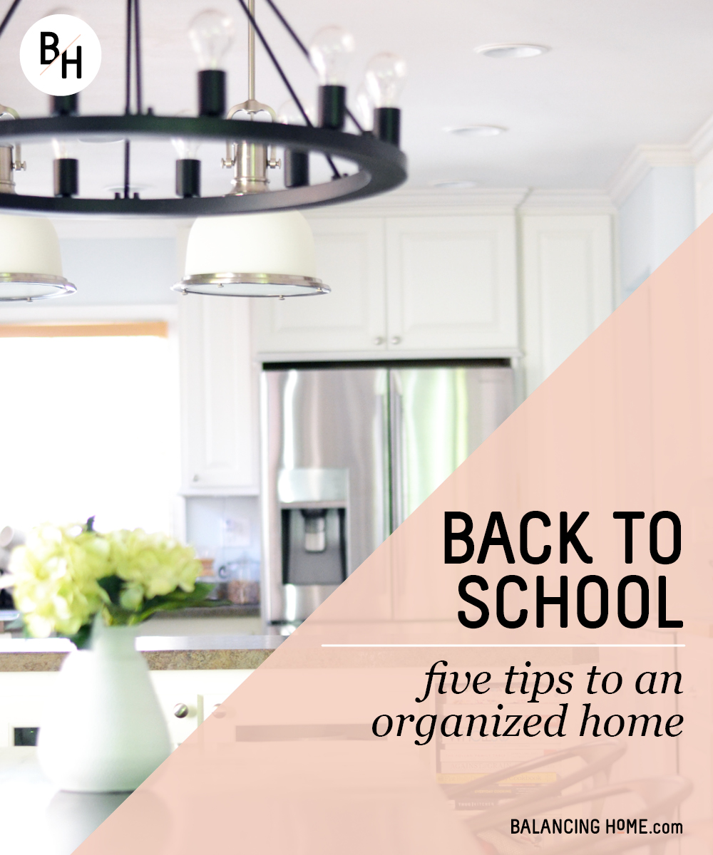 Back to school: five tips to an organized home