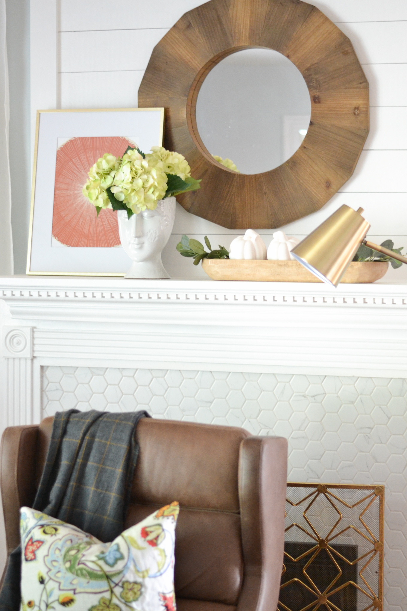 This Is Such A Simple Fall Living Room Decorating Idea. Bring In Warmth  With Cozy Throws, Add In A Pouf, And Layer In The Texture.